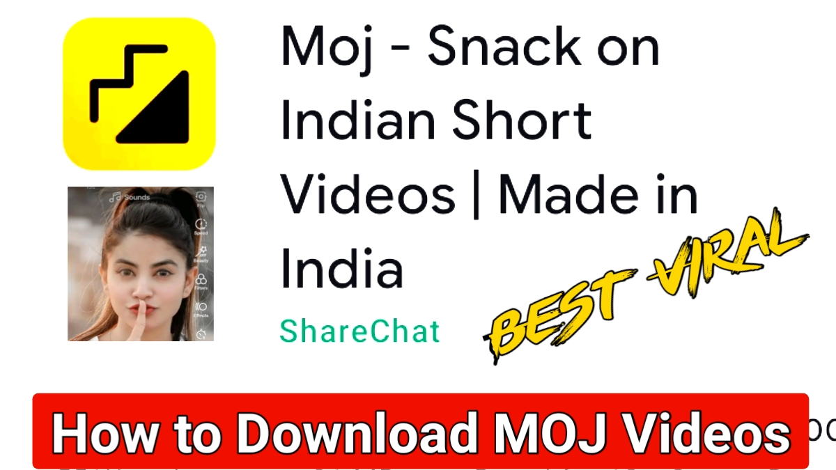 How to Download MOJ Videos : Indian Short Video App